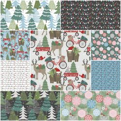 Baubles and Boughs Fat Quarter Bundle