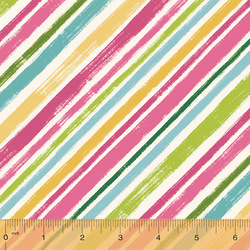 Diagonal Stripe in Fuchsia