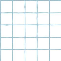 Windowpane in Bluebell on White