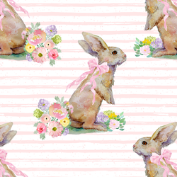 Striped Bunny Tales in Pale Pink