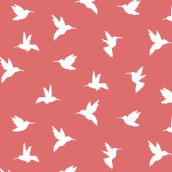 Hummingbird Silhouette in Poppy