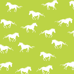 Horse Silhouette in Lime