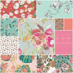 Wild Bloom Fat Quarter Bundle in Come Rain
