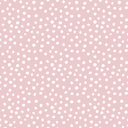 Little Modern Polka Dot in White on Powder Pink