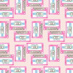 Holiday Mix Tape in Festive Pink