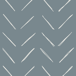 Large Chevron in Lead Blue