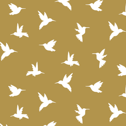 Hummingbird Silhouette in Marigold