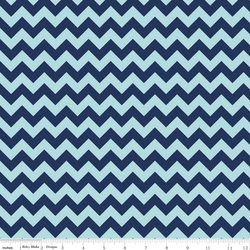 Small Chevron Tone on Tone in Navy