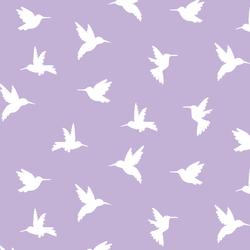 Hummingbird Silhouette in Lilac