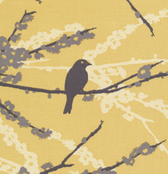 Sparrows in Vintage Yellow
