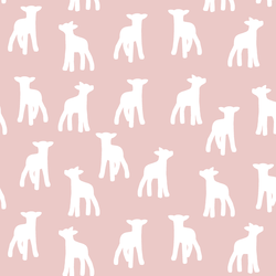 Lamb Silhouette in Blush