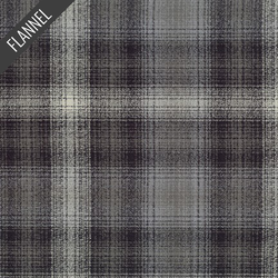Mammoth Night Plaid Flannel in Grey