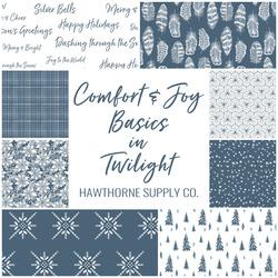 Comfort and Joy Basics Fat Quarter Bundle in Twilight