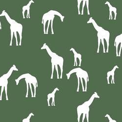 Giraffe Silhouette in Kale