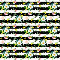 Small Lemon Blossoms in Black Stripes