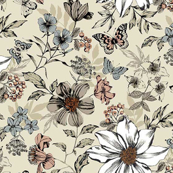 Botanical Large Floral in Cream