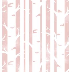 Big Birches in Blush