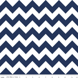 Medium Chevron in Navy