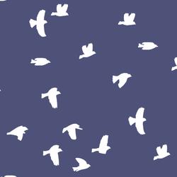 Flock Silhouette in Indigo