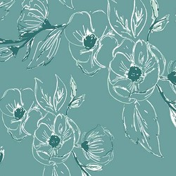 Carnation in Teal