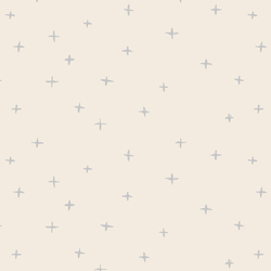 Swiss Crosses in Lunar Gray on Egret