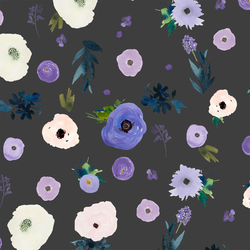Drifting Blooms in Onyx