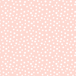 Little Modern Polka Dot in White on Sugar Pink