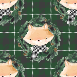 Fox on Tartan Plaid in Cedar Green