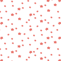 Star Light in Living Coral on White