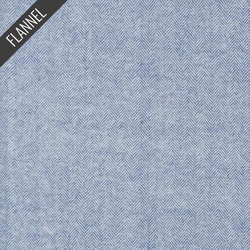 Shetland Herringbone Flannel in Denim