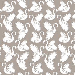 Swan Silhouette in Taupe