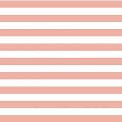 Horizontal Candy Stripe in Peony