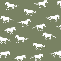Horse Silhouette in Olive