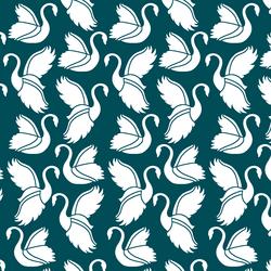 Swan Silhouette in Juniper