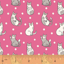 Happy Cats in Fuchsia