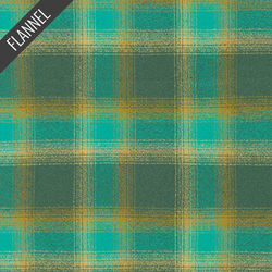 Mammoth Radiant Plaid Flannel in Lagoon