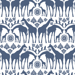 Giraffe Tribe in Midnight