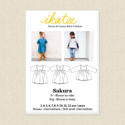 Sakura Blouse and Dress - Girls