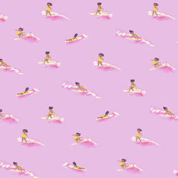 Tiny Surfers in Pink