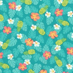 Tropical in Turquoise