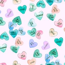 Conversation Hearts in Light Sugar Pink