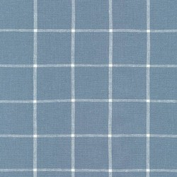 Grid Yarn Dyed Woven in Chambray