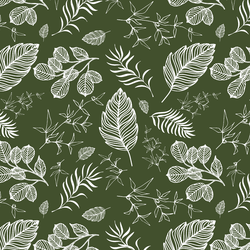 Foliage in Olive Green