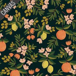 Citrus Floral Canvas in Black