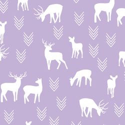 Deer Silhouette in Lilac