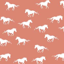 Horse Silhouette in Desert Rose