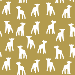 Lamb Silhouette in Gold