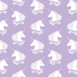 Unicorn Silhouette in Lilac