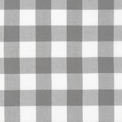 Large Carolina Gingham Yarn Dyed in Grey