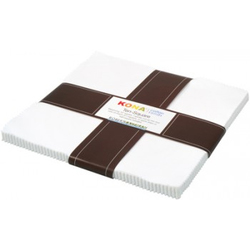 """Kona Solid 10"""" Square Pack in White"""